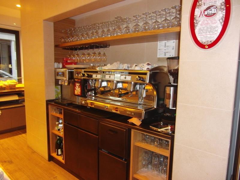Foto angolo caffetteria presso il Tresoldi Bakery 1938 a Bergamo