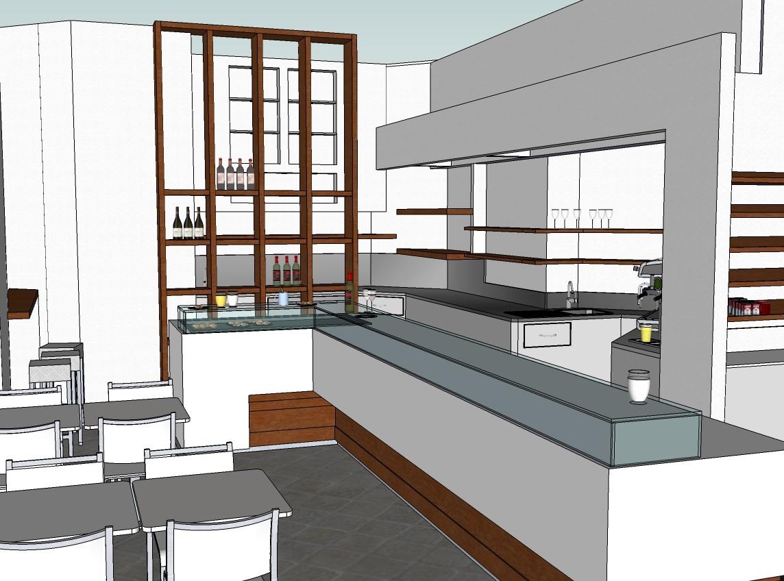 Progetto ideato per la ristrutturazione del Bar Tabacchi Foppa a Milano