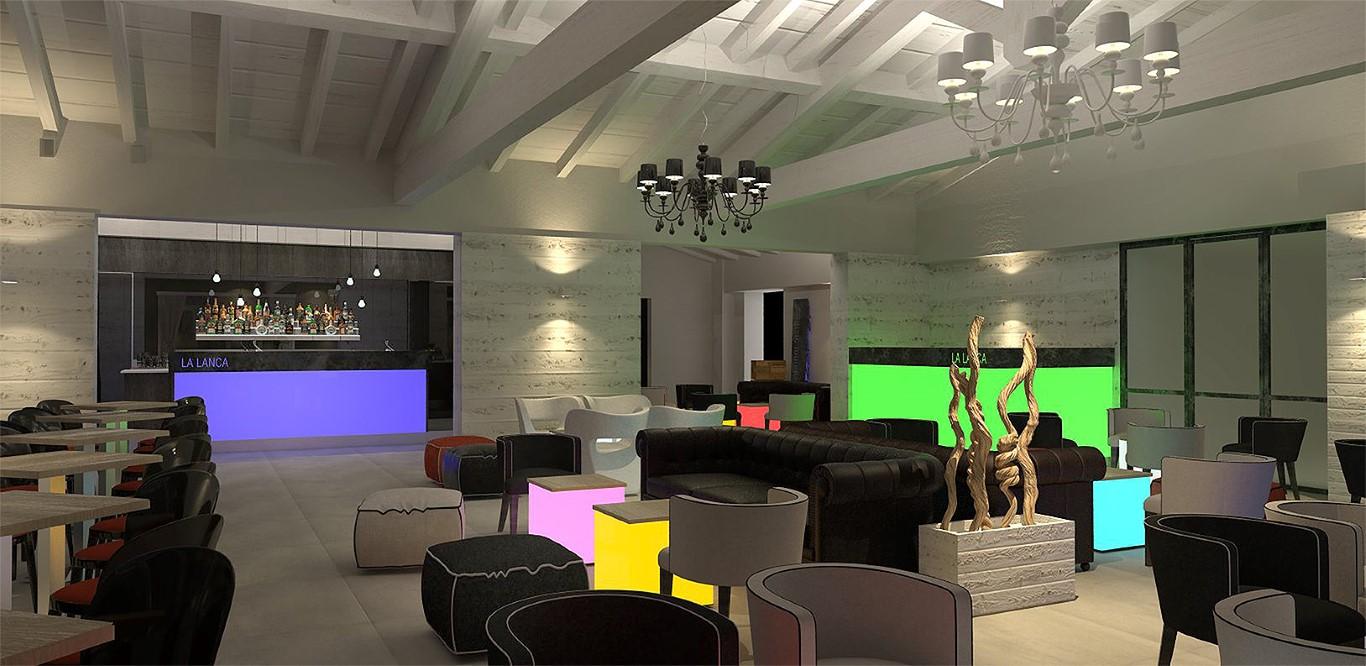 Area bar e salotto del Lounge Bar Ristorante La Lanca