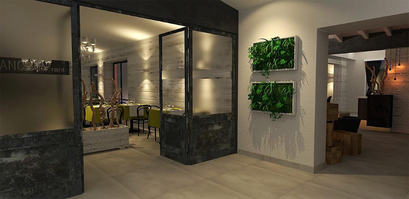 """Particolare dell'ingresso al Lounge Bar Ristorante """"La Lanca"""" a Fara Gera d'Adda, Bergamo"""