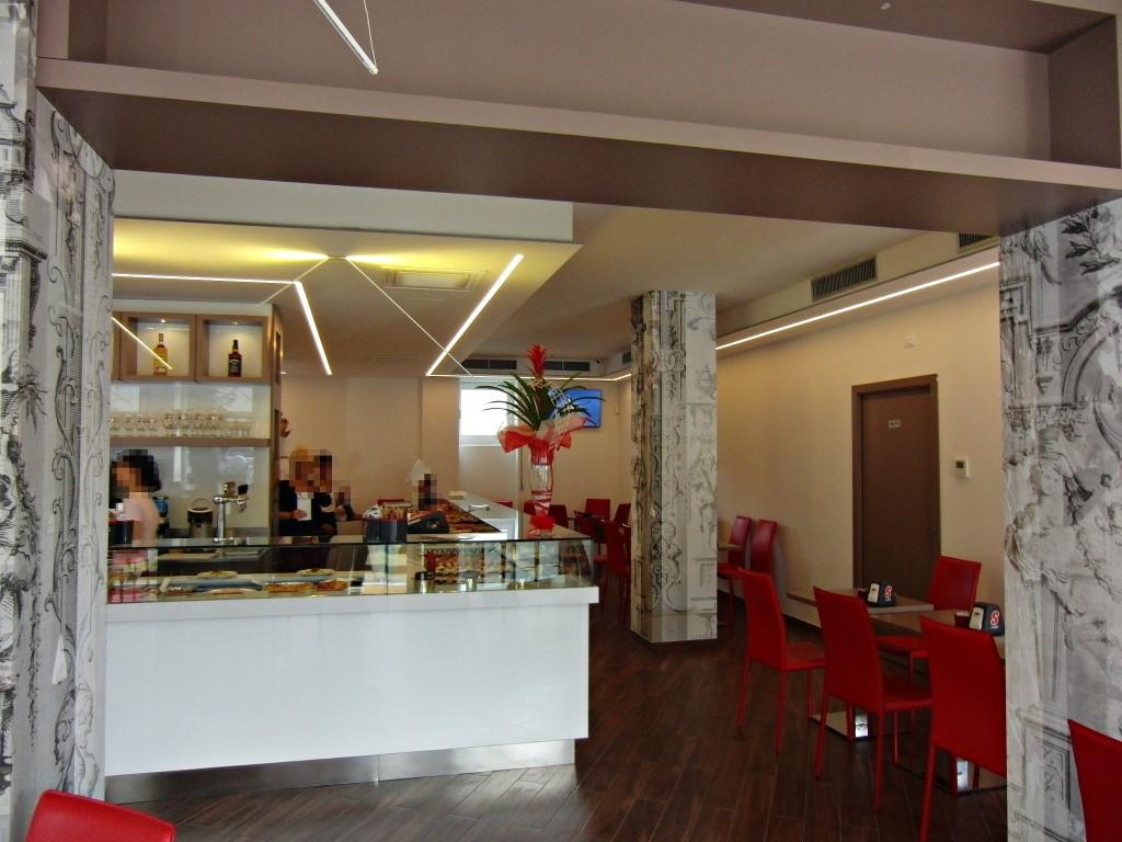 Particolare del banco bar ripreso alla Caffetteria Panificio Good Morning a Lissone, Brescia
