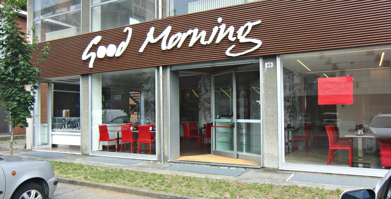 Foto dell'ingresso scattata in Via Carduccia presso la Caffetteria Panificio Good Morning a Lissone, Brescia