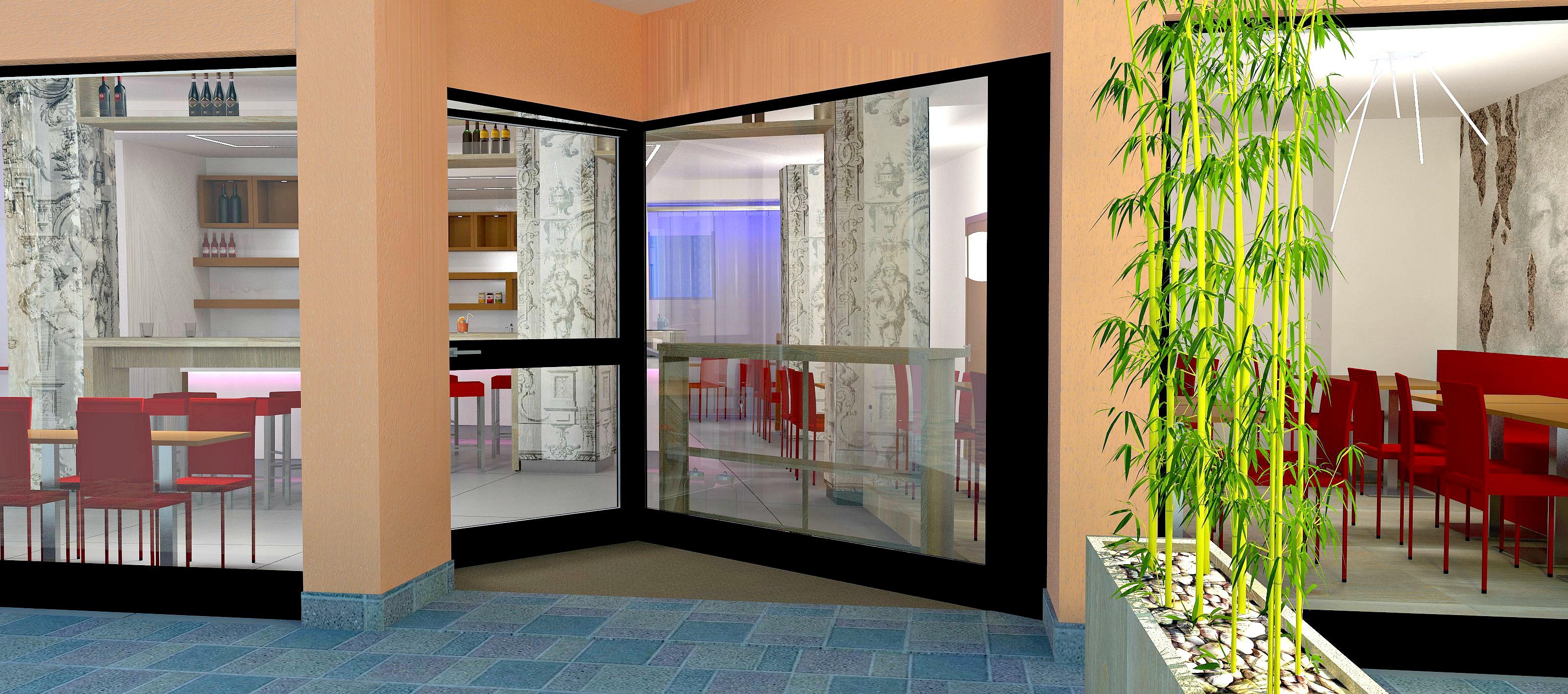 Immagine di un render pensato per l'ingresso alla Caffetteria Panificio Good Morning a Lissone, Brescia