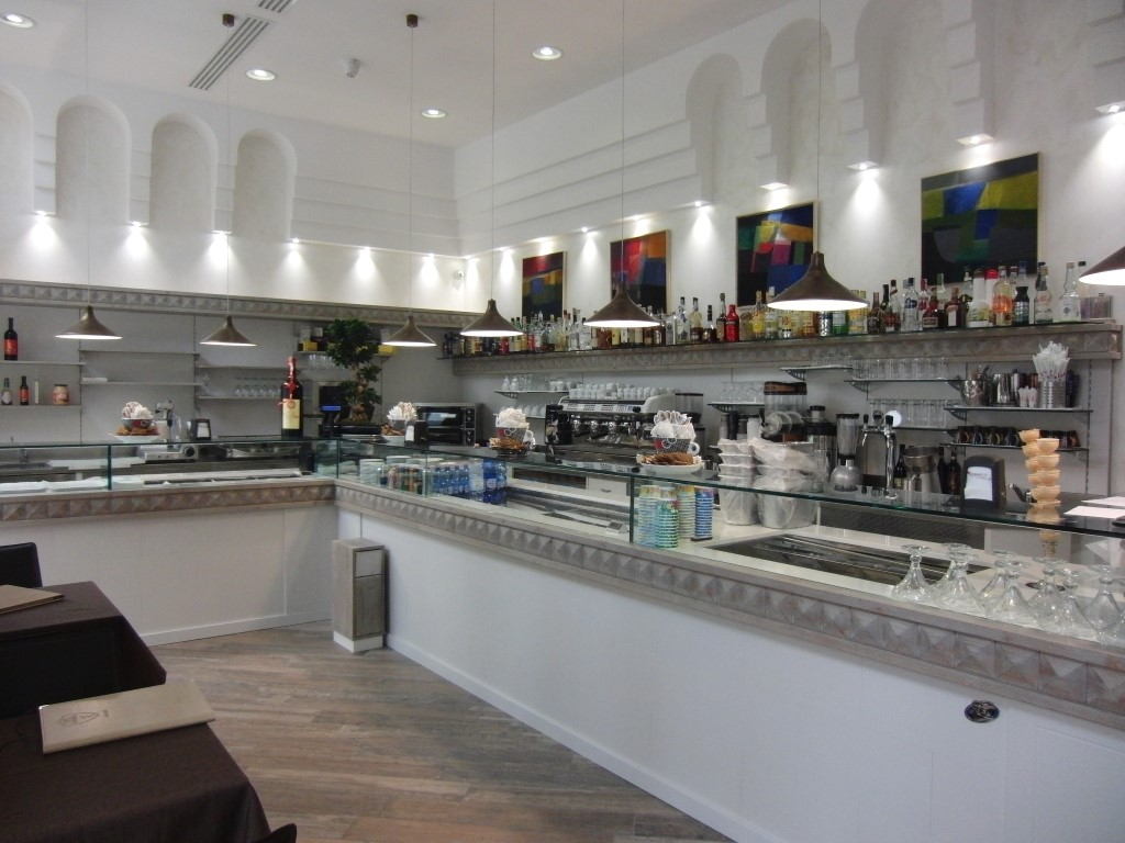Foto della visuale interna presso il Wine Bar Cocktails, Cafè Olimpia a Milano