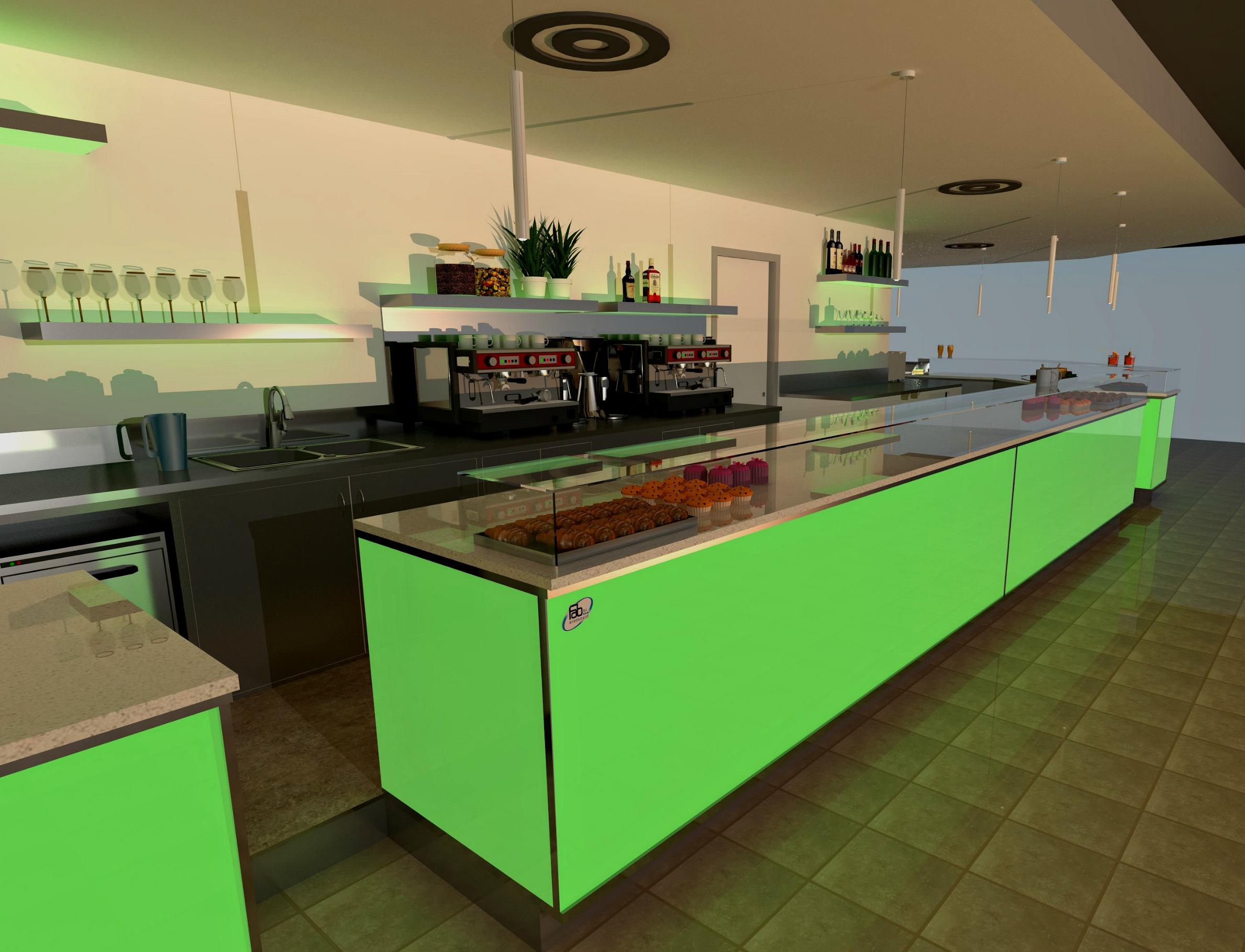 Bar caffetteria pelikan 39 s progettazione e arredi fab for Arredamenti treviglio