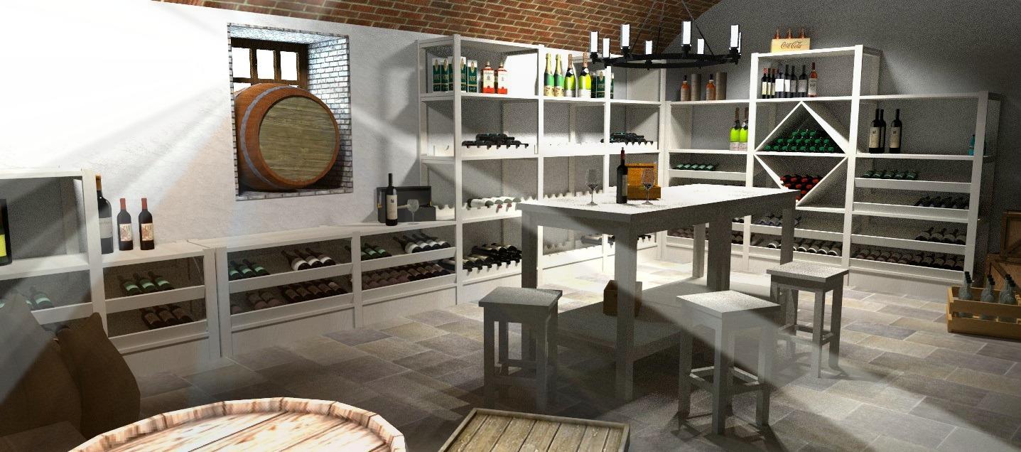 Render realizzato per la Taverna Babalè a Scanzorosciate, Bergamo