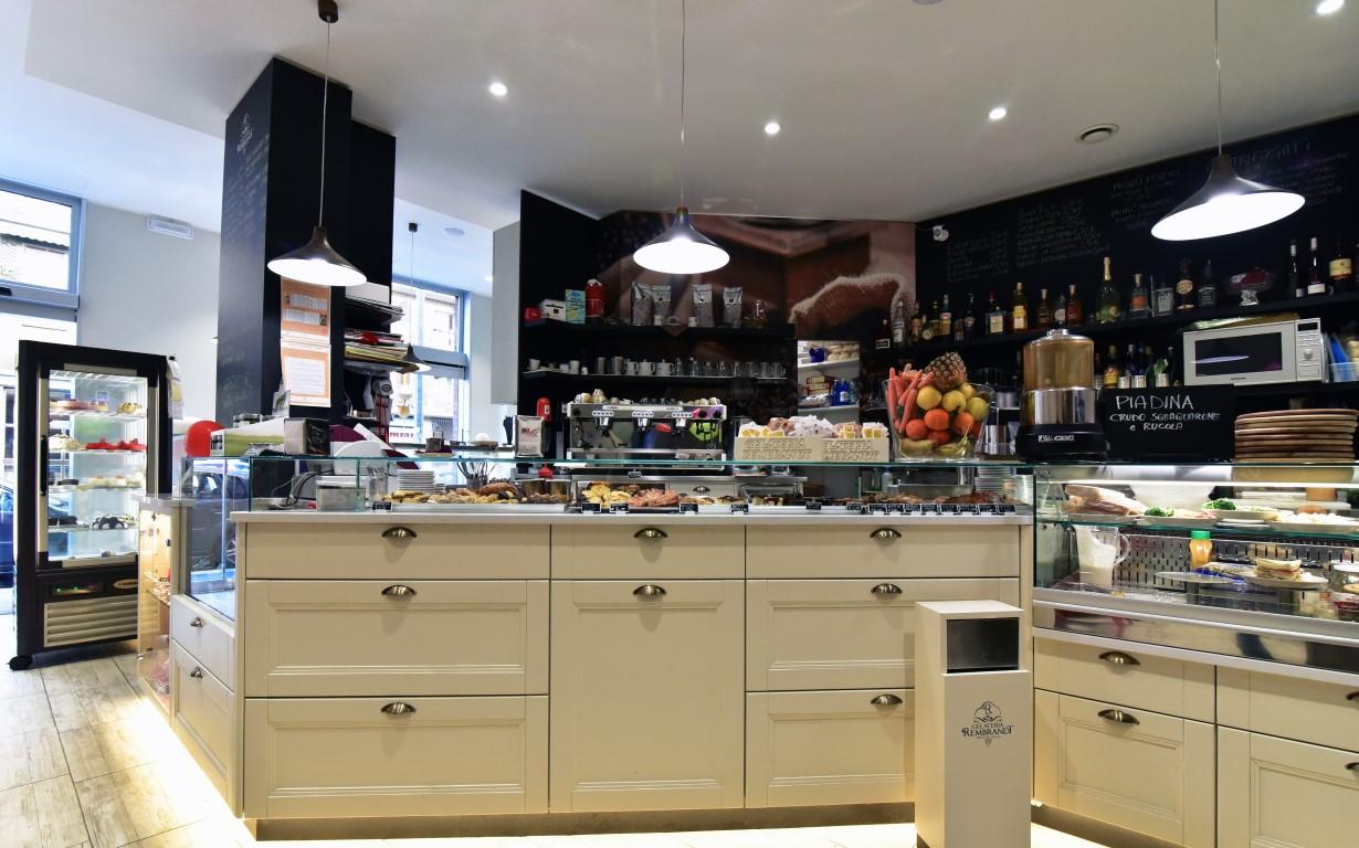 Angolo caffetteria della Gelateria Caffetteria Rembrandt a Milano
