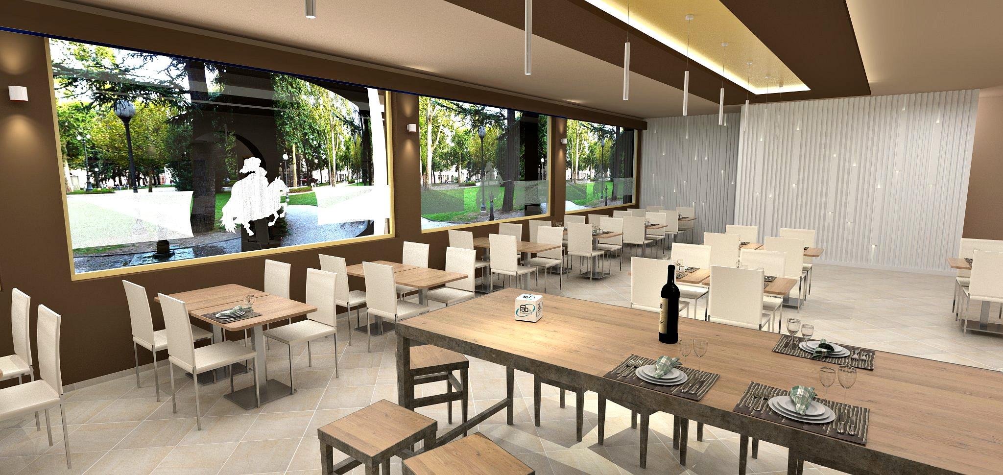 Bozza di realizzazione per il salone ristorante del Ristorante Pizzeria Parsifal a Curnasco in Provincia di Bergamo