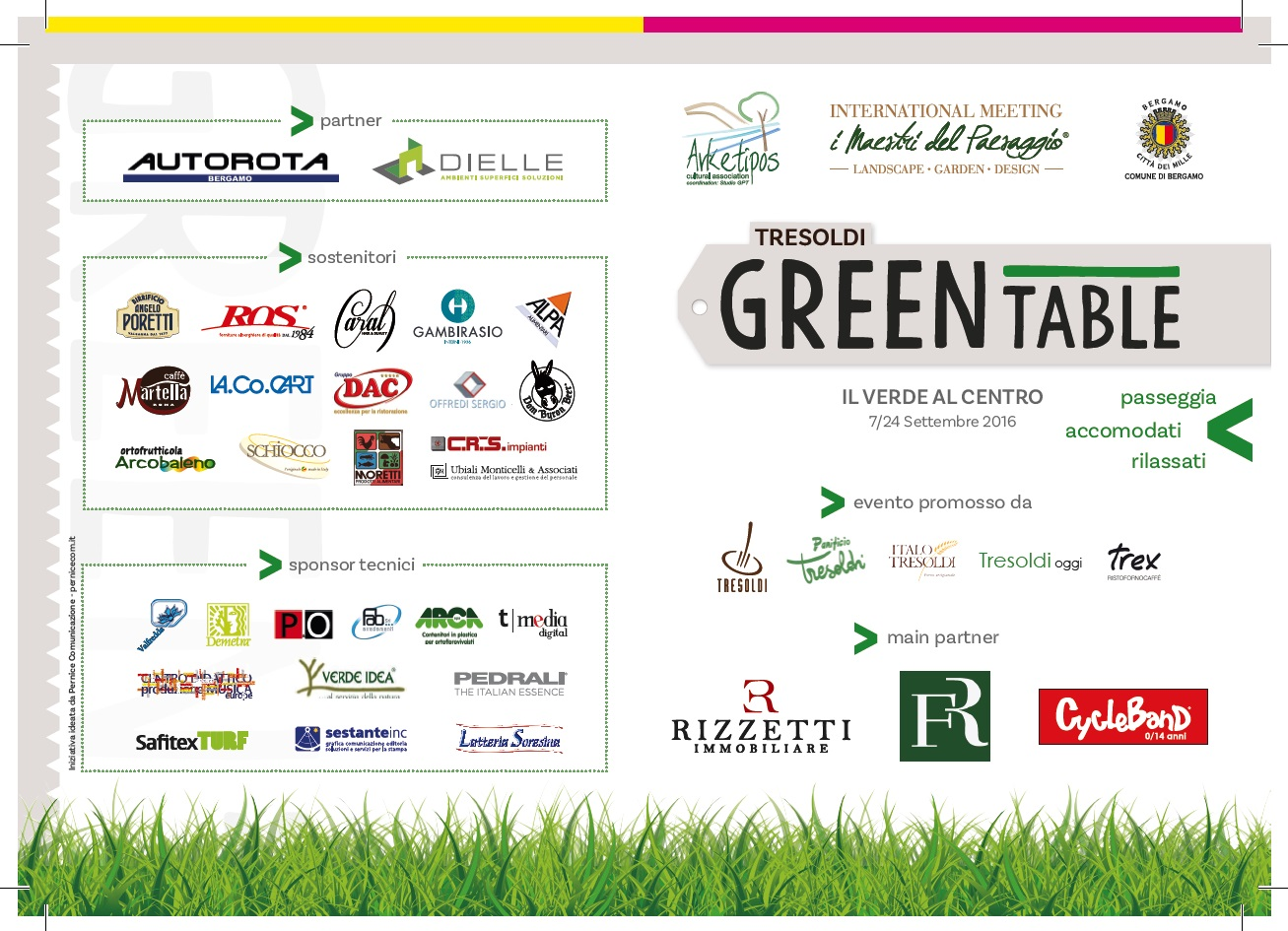 Cartellone evento Tresoldi Green Table