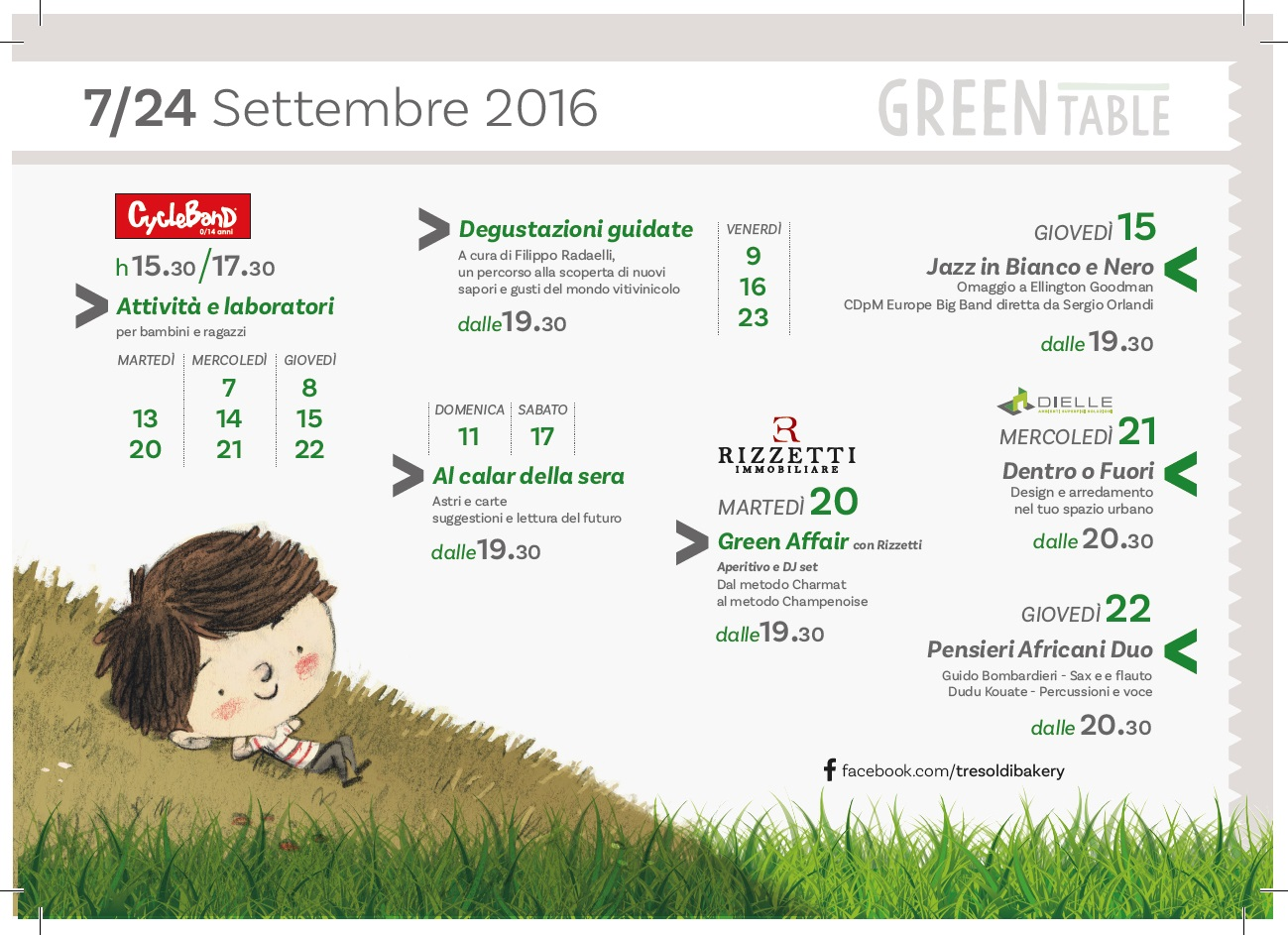 Programma dell'evento Tresoldi Green Table