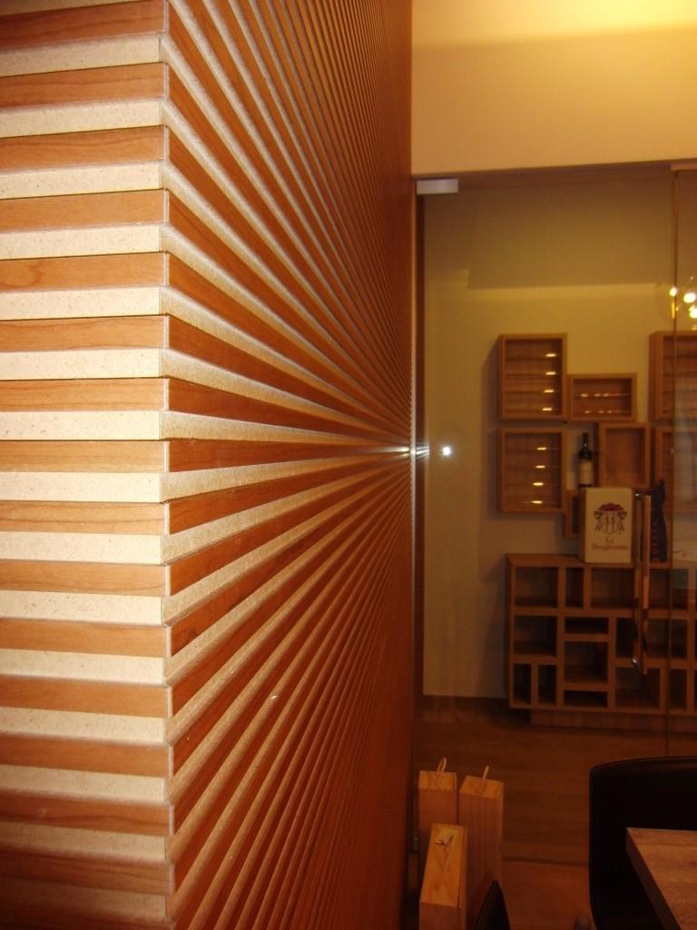 Foto di un dettaglio della parete all'interno del Ristorante Ezio Gritti di Bergamo
