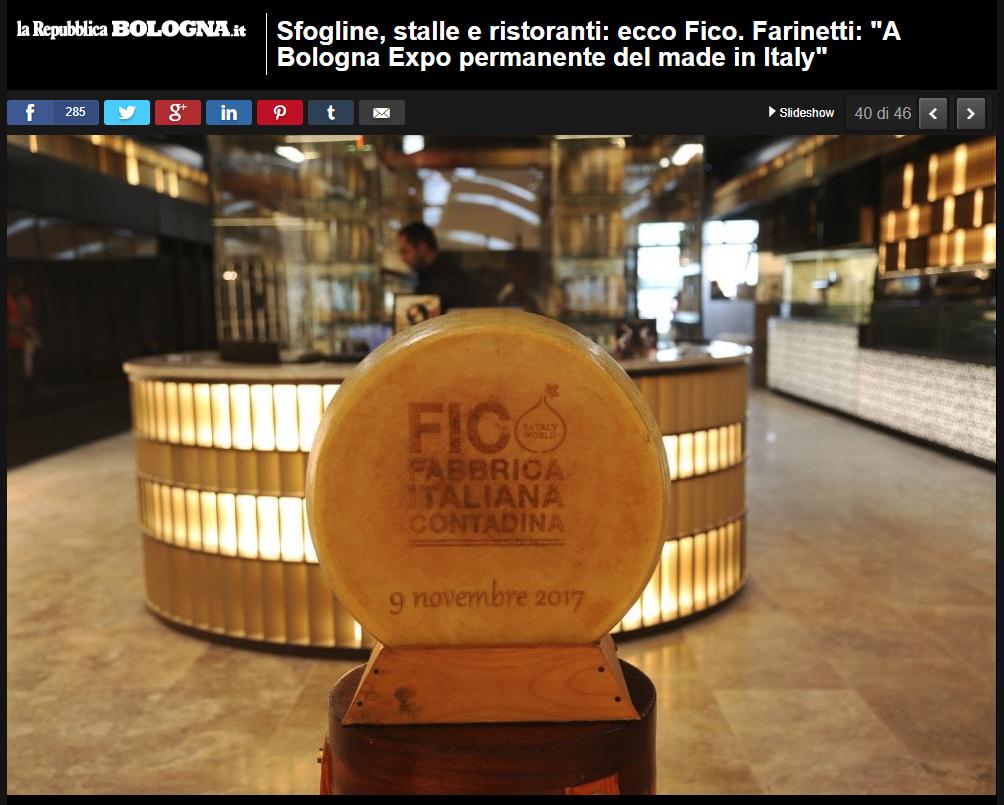 particolare dello stand di FICO Fabbrica Italiana Contadina a Bologna
