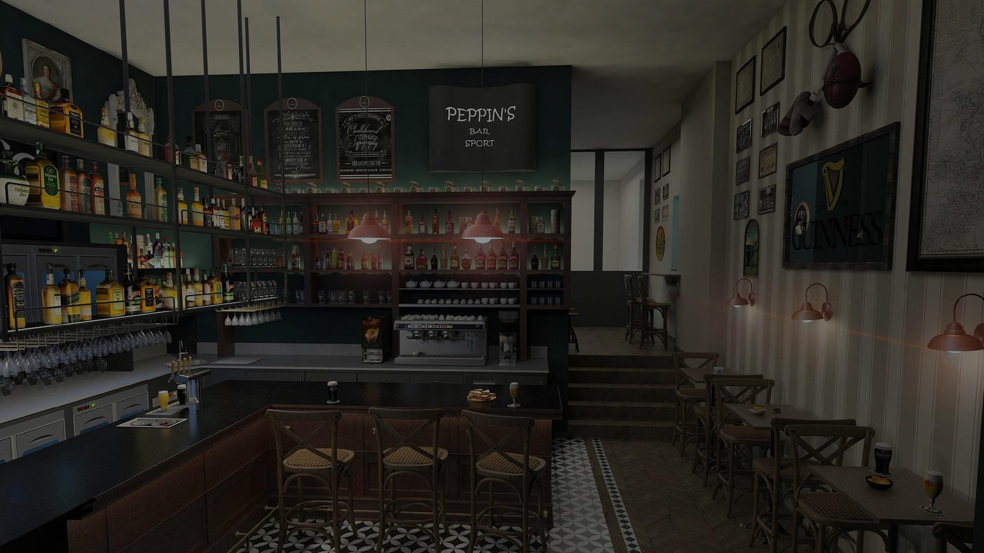 Esempio di arredamento su misura per ristorante e bar